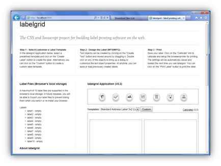 labelgrid - label software, css and javascript label